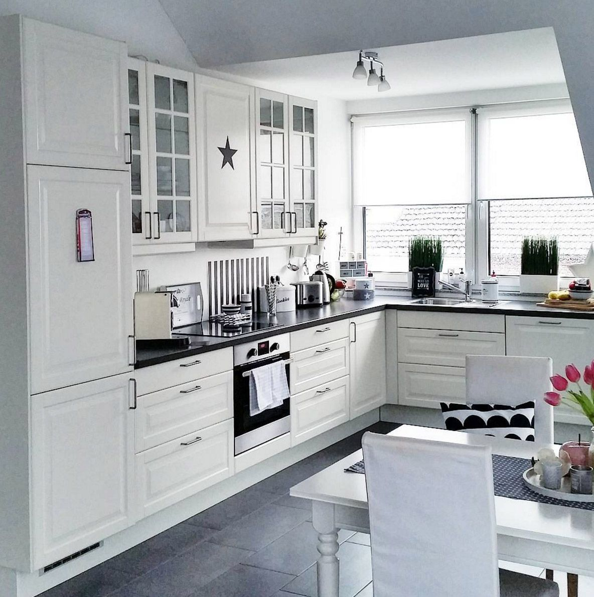 Küche Ikea Ideen | Groß Ikea Küche Hocker Aus Holz Galerie Küchen ...