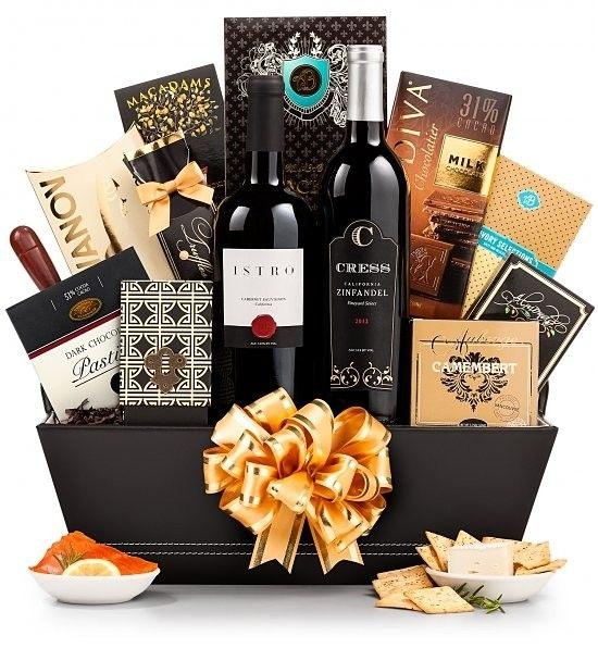 Luxury Birthday Wine Gift Basket On PrimeWines A Tasteful Way To Say Happy Winegift Giftbasket Birthdaygift