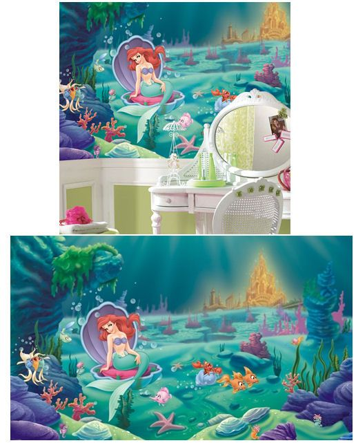 Little Mermaid Ariel Giant XL Wall Mural 10.5 X 6   Wall Sticker Outlet