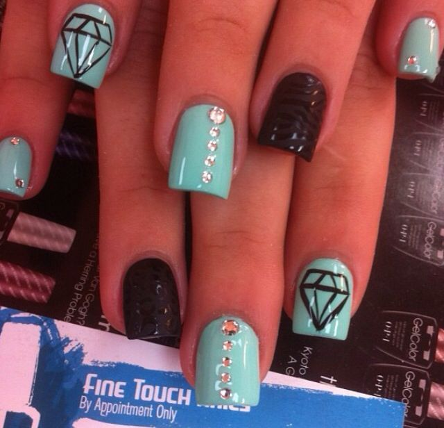 Cute Nail Designs With Diamonds Great Nail Art Design Pinterest
