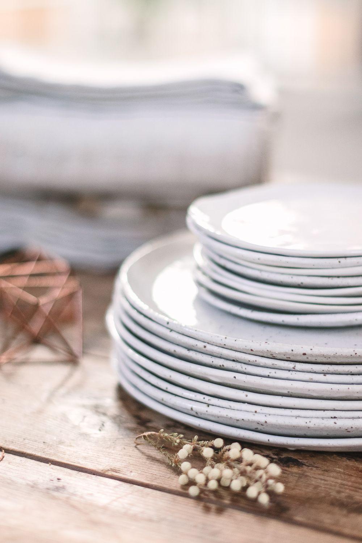 A Simple And Beautiful Christmas Table Christmas Dining Table Handmade Plates Handmade Dinnerware