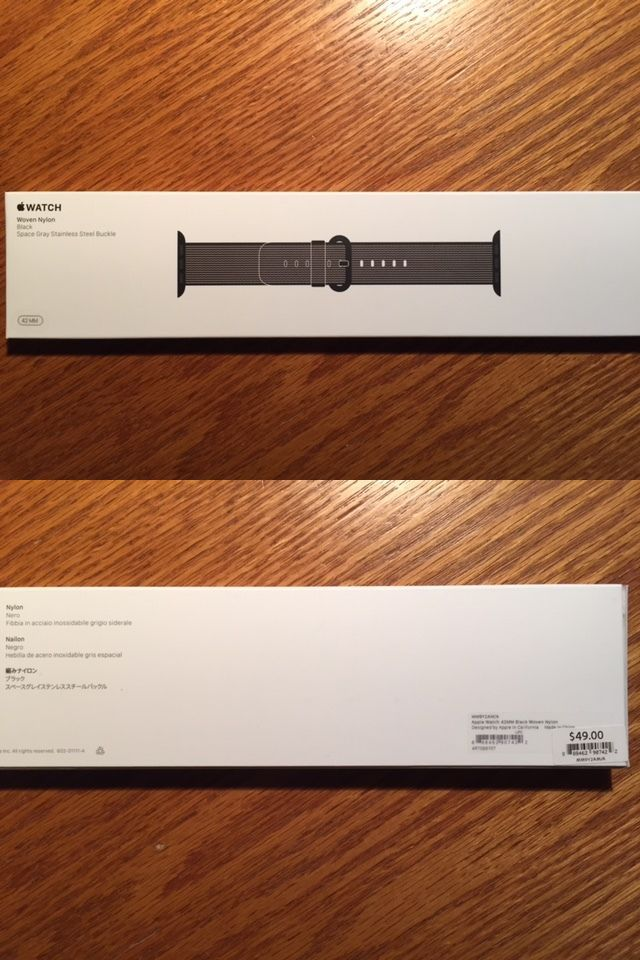 Wristwatch Bands 98624: Genuine Apple Watch Woven Nylon Band (42Mm, Black) - Brand New -> BUY IT NOW ONLY: $35 on eBay!