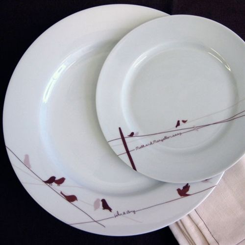 Birds on a Wire Dinner Plate & Birds on a Wire Dinner Plate | Rust Dinnerware and Lineman wife