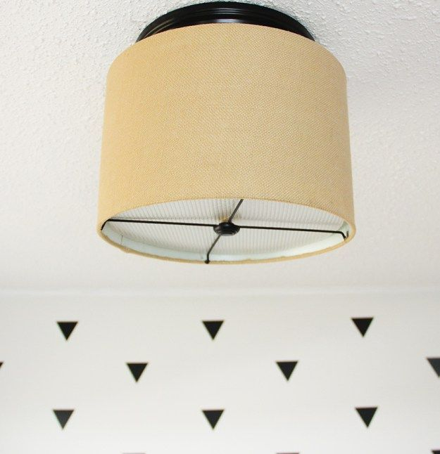 Upgrade A Ceiling Light With A Drum Shade For Under $15. Hanging LightsDiy  ...
