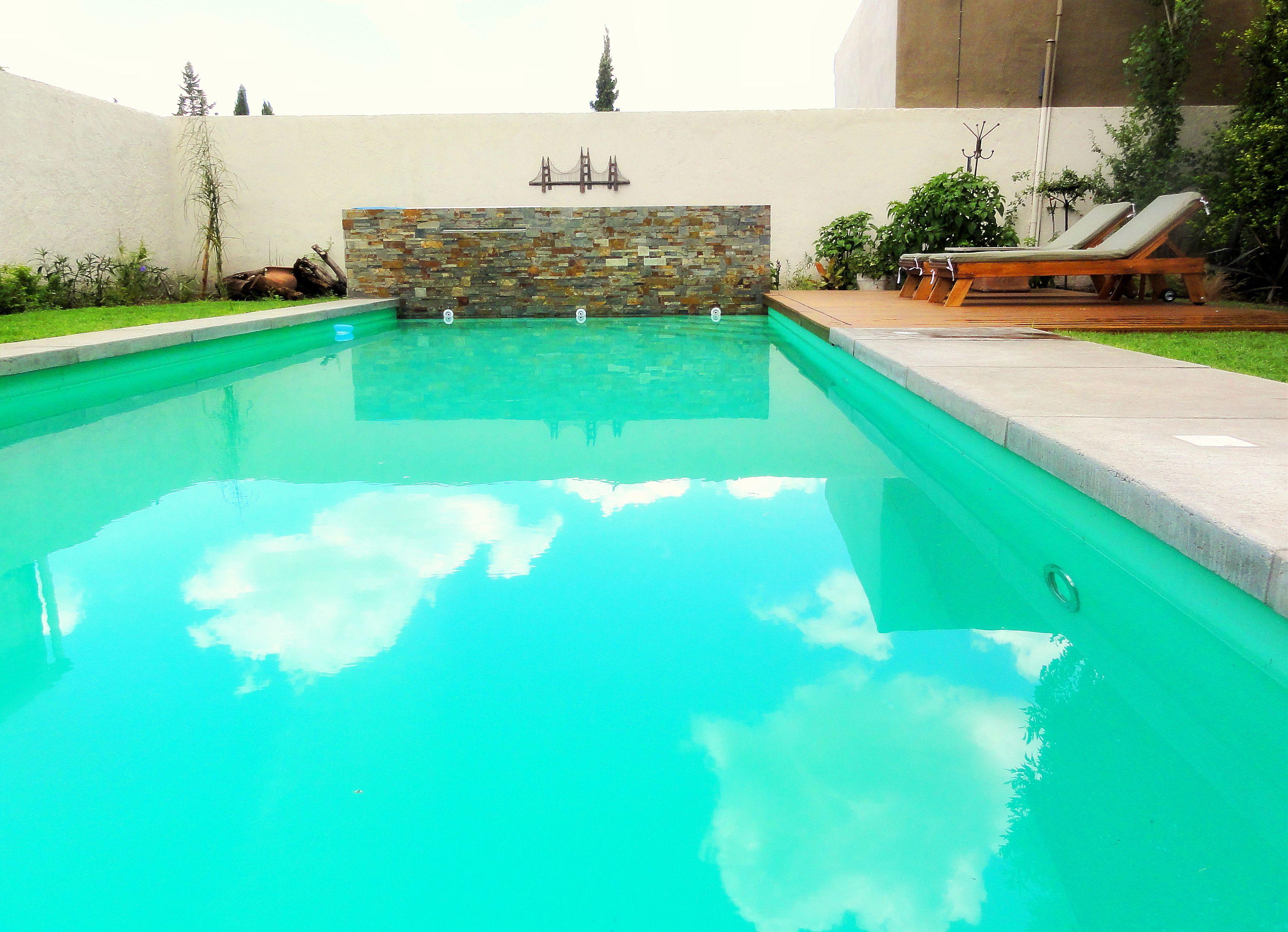 piscina familiar - cordoba - argentina - revestimiento en piedra
