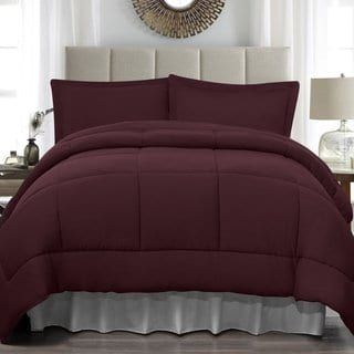 Soft Touch King Jersey 4 Piece Comforter Set (Purple - Solid Color), Madison