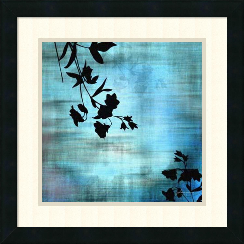 James burghardt uaqua floral iiu framed art print x inch