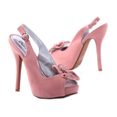 71eeb8363ae AwesomeNice Qupid Women s Floral Sling Back Open Toe Platform Pumps ...
