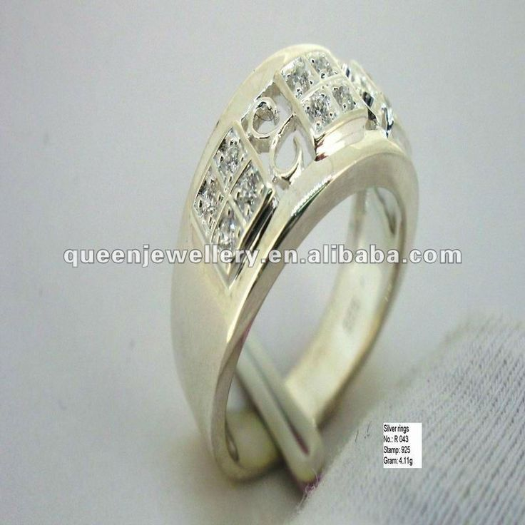 succinct design 925 sterling silver ring jewelry with czR043 #925_silver_jewelry, #design