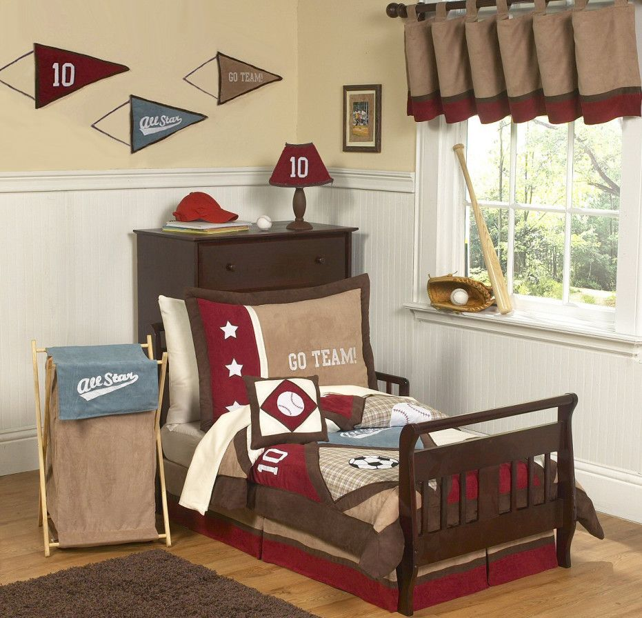 Bedroom Design, Small And Minimalist Toddler Boys Bedroom Design Ideas With  Brown And Red Colors