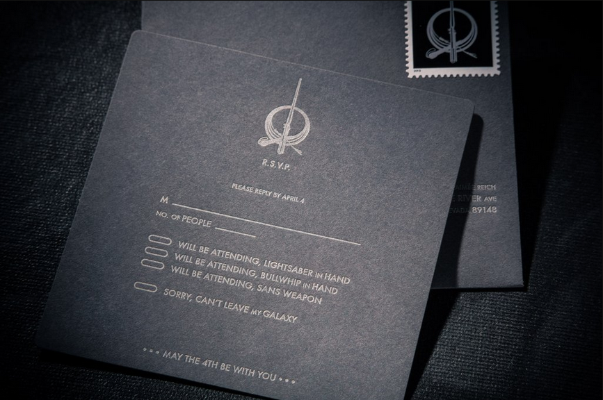 star wars wedding invitation trumps all other invitations | star, Wedding invitations