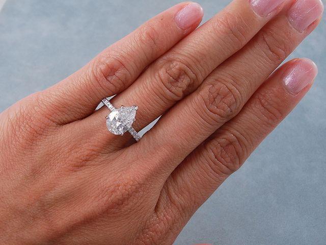 Astonishing 2 25 Ctw Pear Shape Diamond Engagement Ring G Si2 Ring Hairstyle Inspiration Daily Dogsangcom