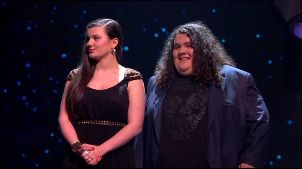 Charlotte and Johnathon from Britain's Got talent. Their story of friendship is truely inspirational. The most beautiful voices!