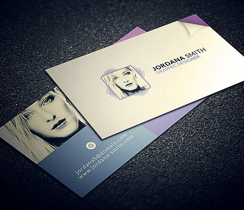Personal business card template print ready designs pinterest personal business card template accmission Images