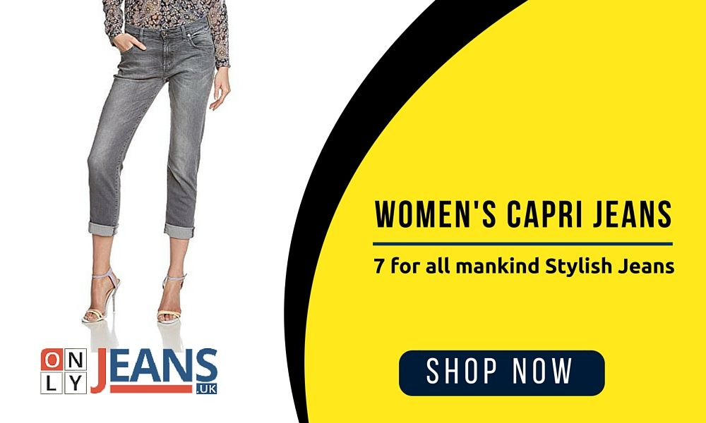 Women's Capri Jeans - 7 for all mankind Stylish Jeans  #WomenCapriJeans #CapriJeans #7forMankind #Clothing #OnlyJeans