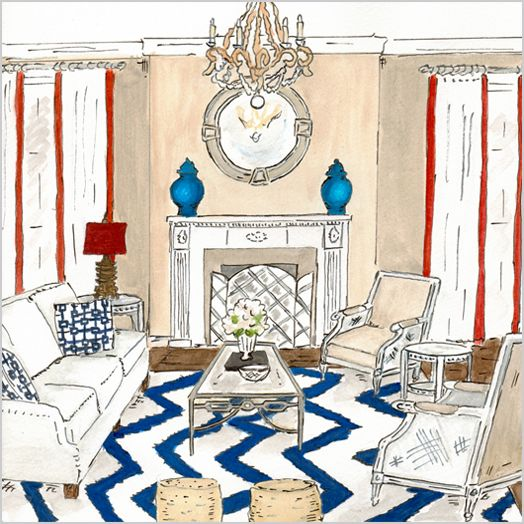 Pin By Divya Dubey On Drawing Living Room: Love This Living Room Sketch