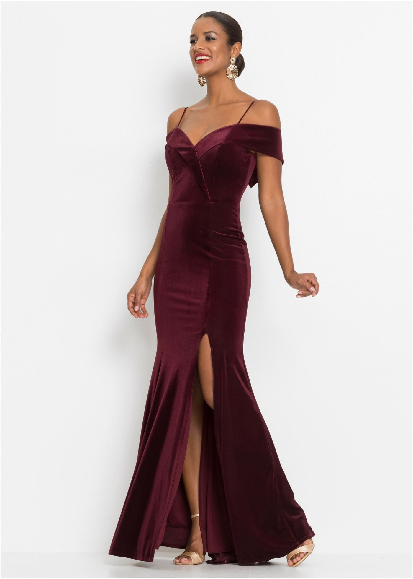 Off-Shoulder-Kleid in 11  Langes kleid party, Party kleider