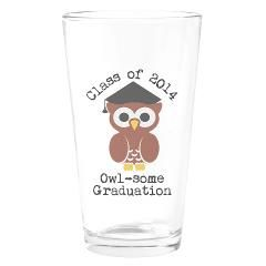 Cute Graduation Owl with mortar board Drinking Gla> Cute graduation owl with mortar board> Victory Ink Tshirts and Gifts