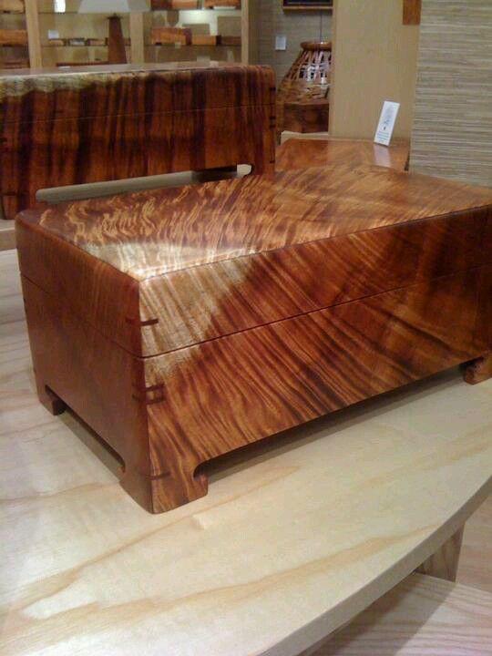 Beautiful Curly Koa Hawaii Heirloom Easy Woodworking Projects Wood Jewelry Box Woodworking Box
