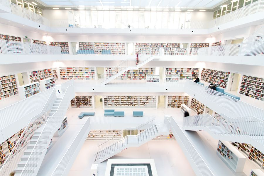 Stuttgarts New Public Library by Dominik Gauss, via 500px