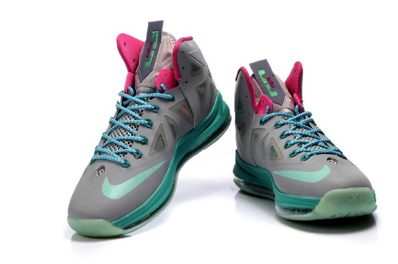 Nike Zoom LeBron 10 P.S Gray/Pink/Jade, cheap Nike Lebron If you want to  look Nike Zoom LeBron 10 P.S Gray/Pink/Jade, you can view the Nike Lebron  ...
