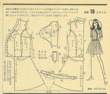 Japanese Magazine Dress Pattern Japanese Patterns