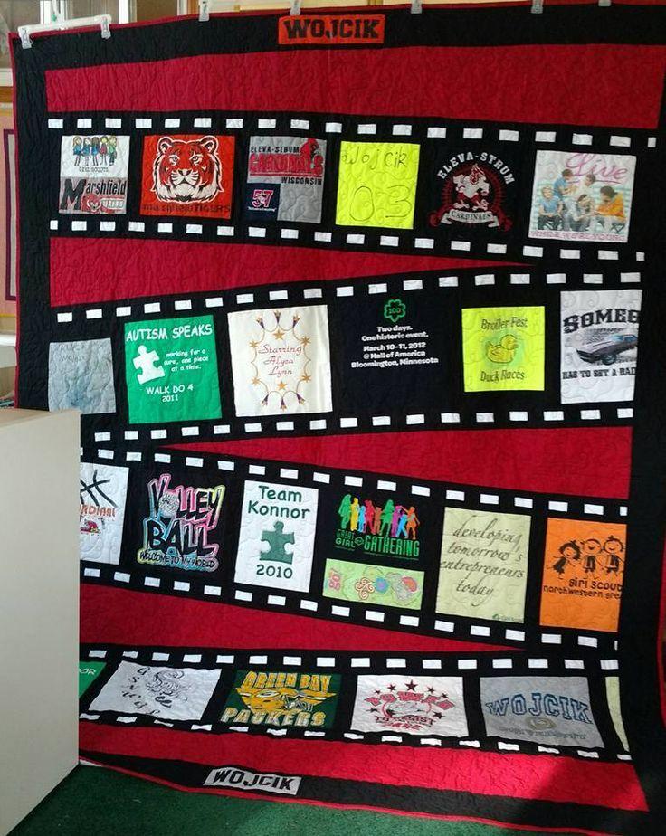 movie film t. Shirt quilt   Movies   Pinterest   Shirt quilts ... : tshirt quilt ideas - Adamdwight.com