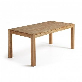 Mesa de comedor extensible MÓDENA 120(200)x75 - madera de roble ...