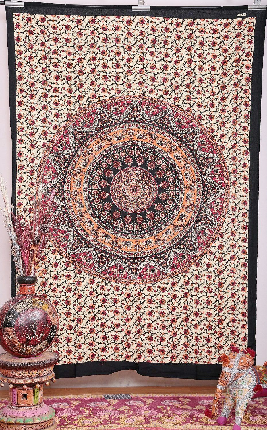 cotton boho mandala tapestry that is perfect