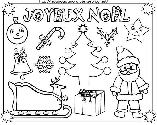 Coloriage de noel pour les petits blog nounoudunord - Dessin a colorier noel disney ...