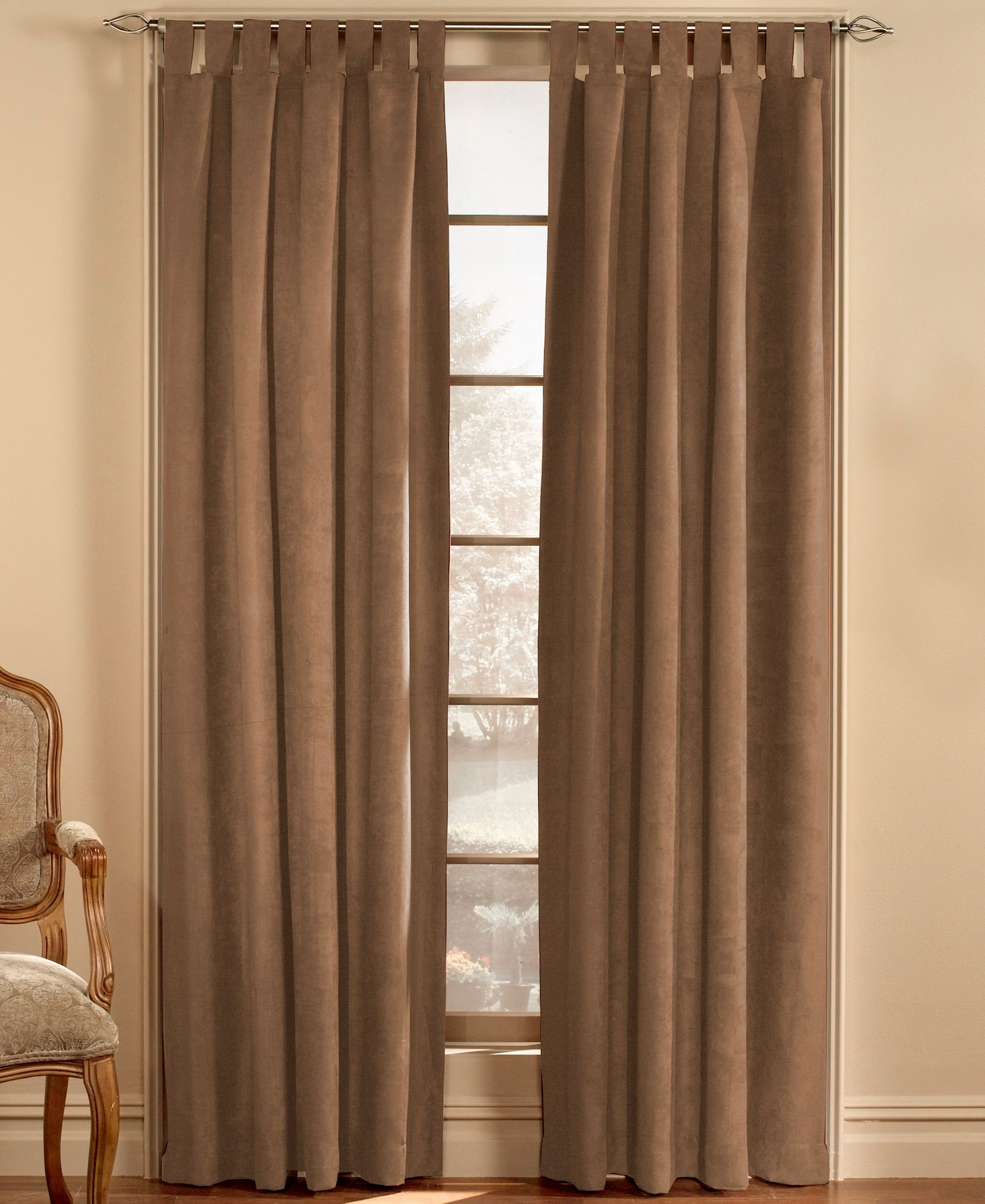 Chf Loftstyle Faux Suede 50 X 95 Panel Wide Curtains Panel