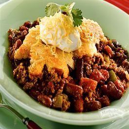Country-Style Chili Con Cornbread from Martha White® #chili #comfortfoods