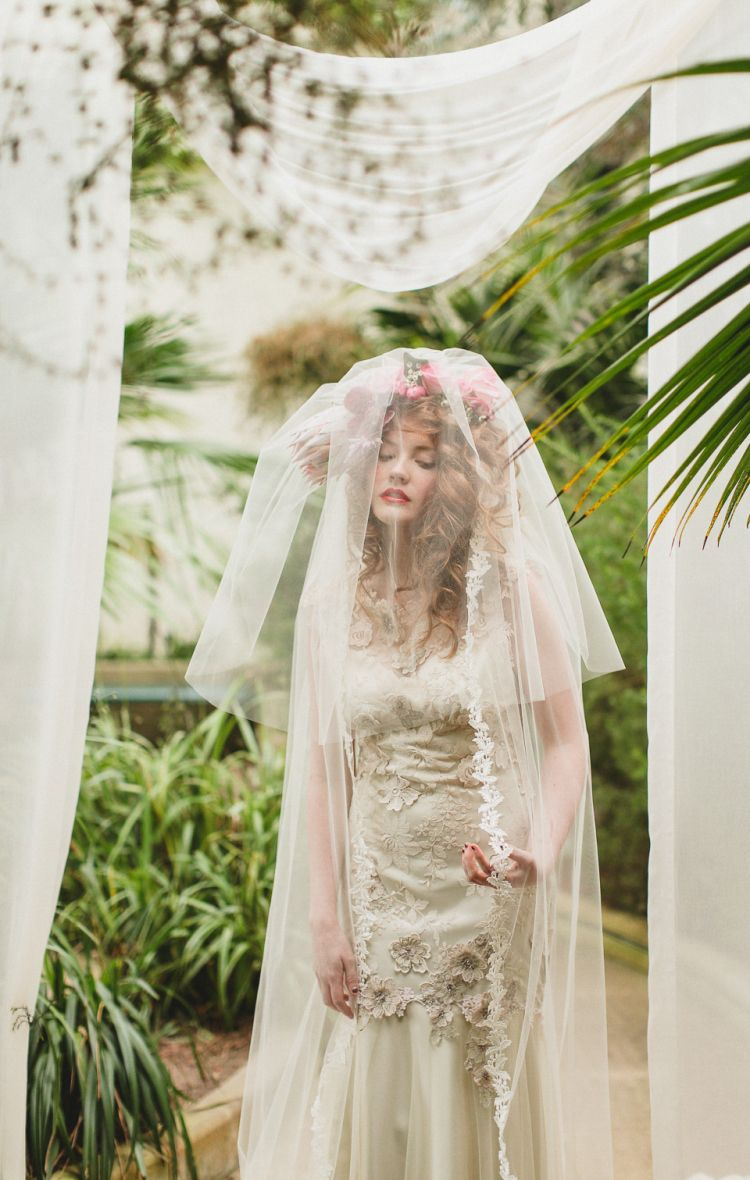 Ethereal wedding dress  Claire Pettiboneus uStill Lifeu Collection  Ethereal and Whimsical