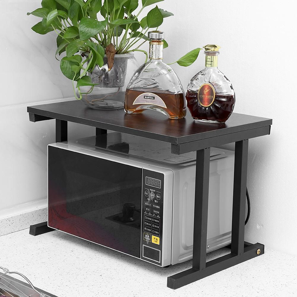 Walfront Wood Microwave Oven Stand Rack 2 Layers Storage Racks Kitchen Cabinet Counter Shelf Counter Shelf Organizer Microwave Oven Rack Walmart Com Oven Racks Microwave Oven Microwave Table