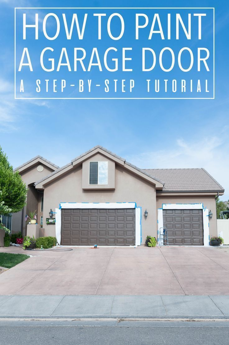 How to Paint Garage Doors and Add Curb Appeal to your Home