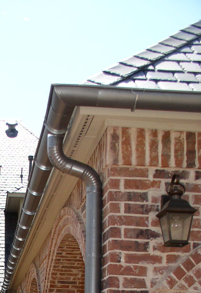 1 2 Round Gutter Outdoor House Colors How To Install Gutters Gutter Colors