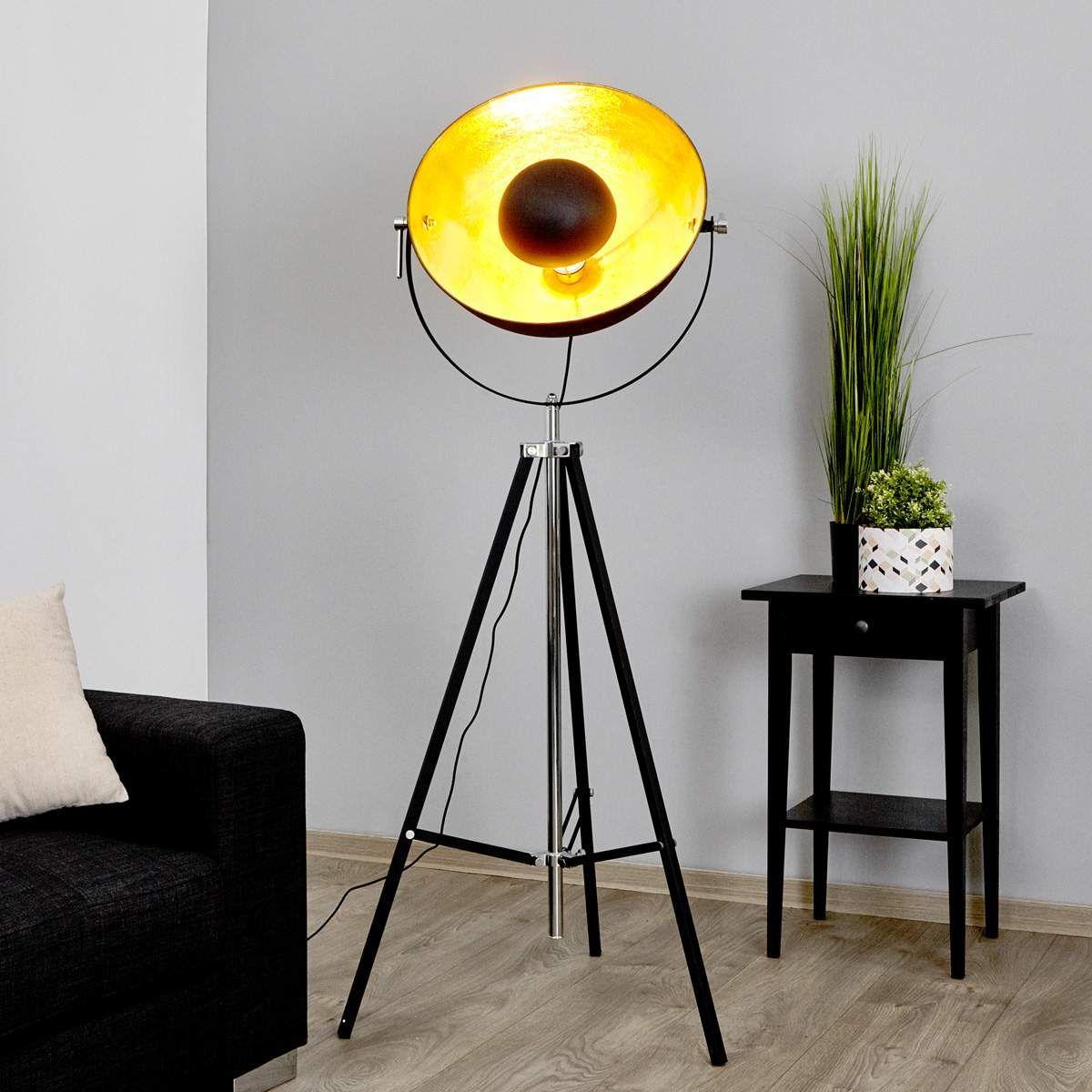 Stehlampe Mineva In Schwarz Und Gold Stehlampe Lampen Und