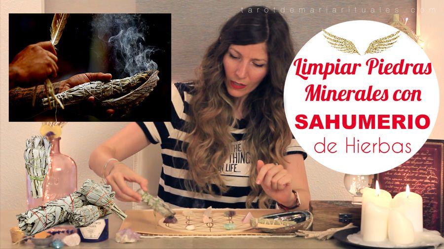 Limpia Piedras Minerales con Sahumerio de Hierbas - TAROT DE MARÍA www.tarotdemariarituales.com