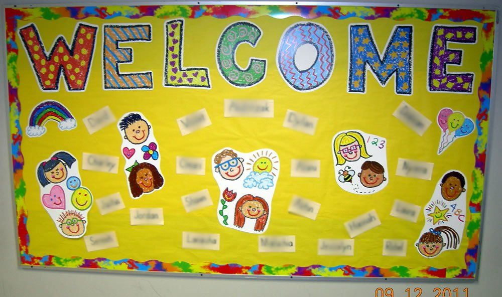 Welcome Back To School Bulletin Board Ideas For Preschool With