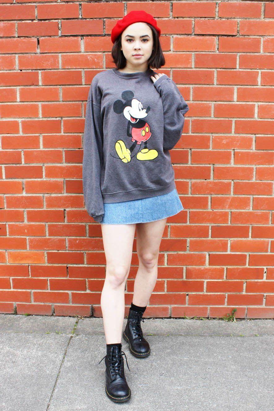 2e3fd5ad2ba Mickey Mouse Sweater Grey – Grandma Funk