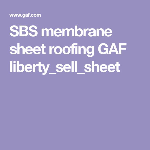 Best Sbs Membrane Sheet Roofing Self Adhering Gaf Liberty 400 x 300