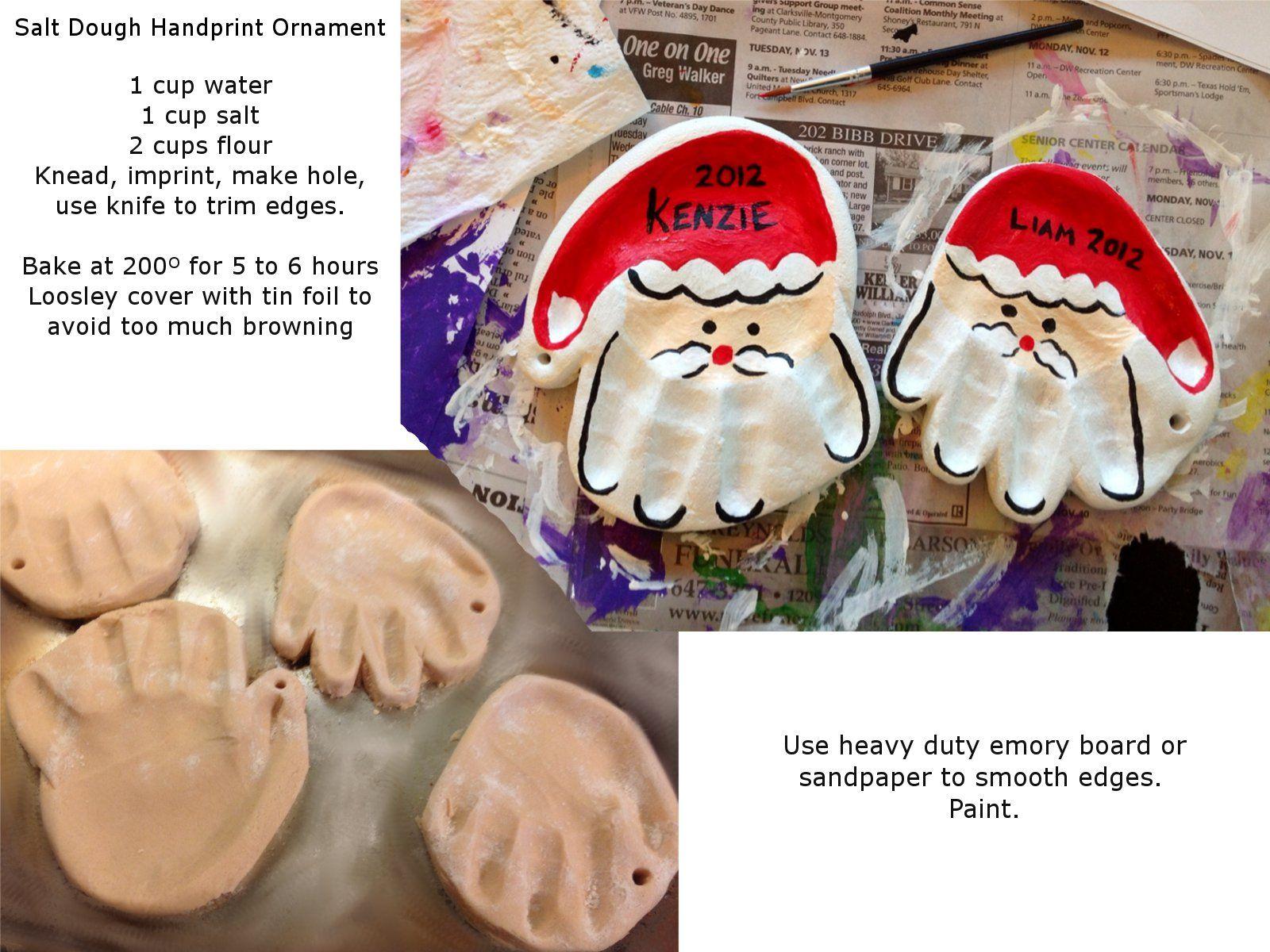 Arts And Crafts Christmas Ideas Part - 37: Salt Dough Handprint Ornament!