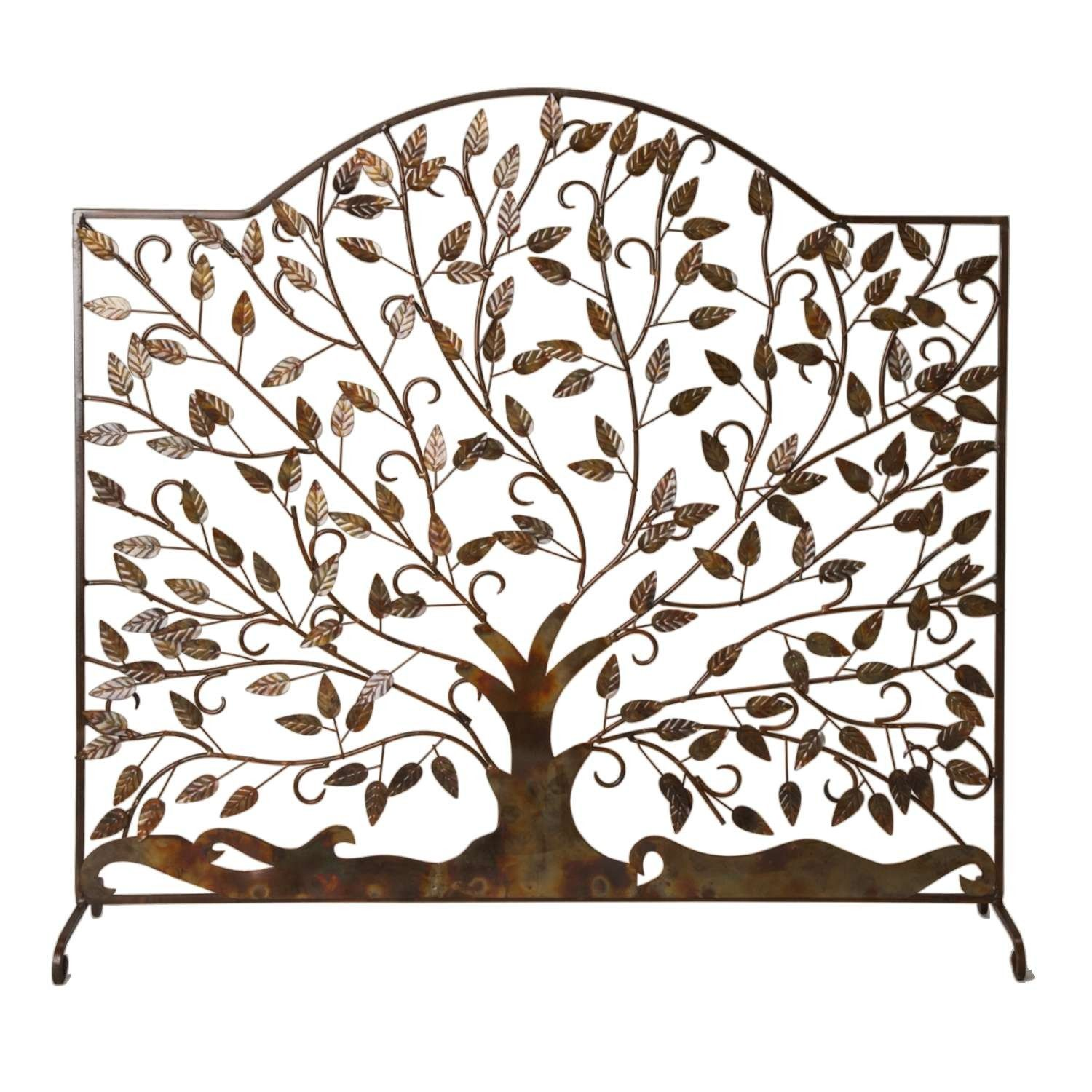 leaves of flame fire screen screens construction and iron