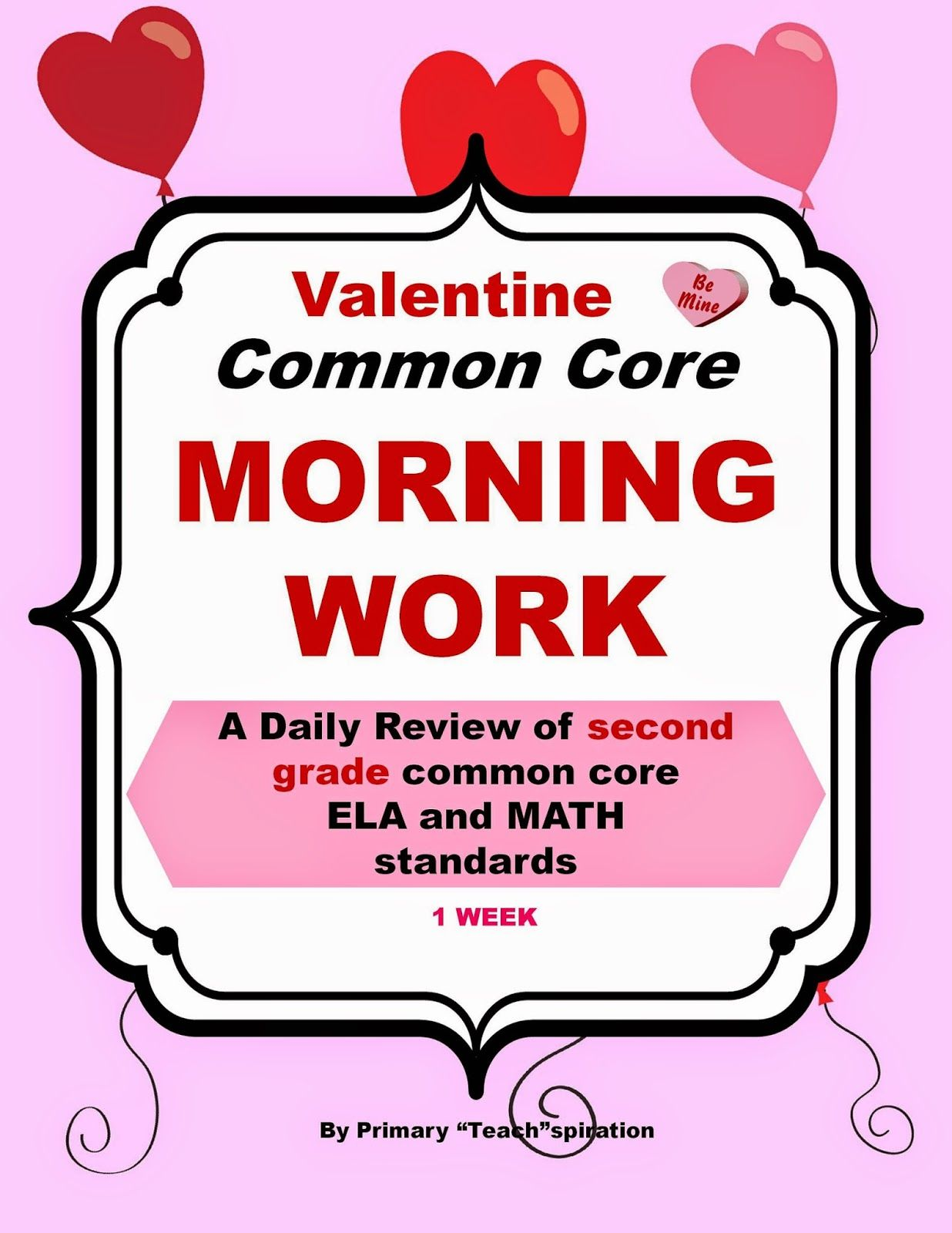A Week Of Valentine Common Core Fun For 2nd Grade