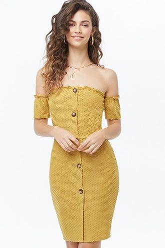 dd498e67bf Clip Dot Off-the-Shoulder Mini Dress   Spring 2020 in 2019   Dresses ...