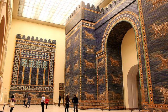 Ishtar Gate Ancient Babylon Pergamon Museum Pergamon Museum Berlin