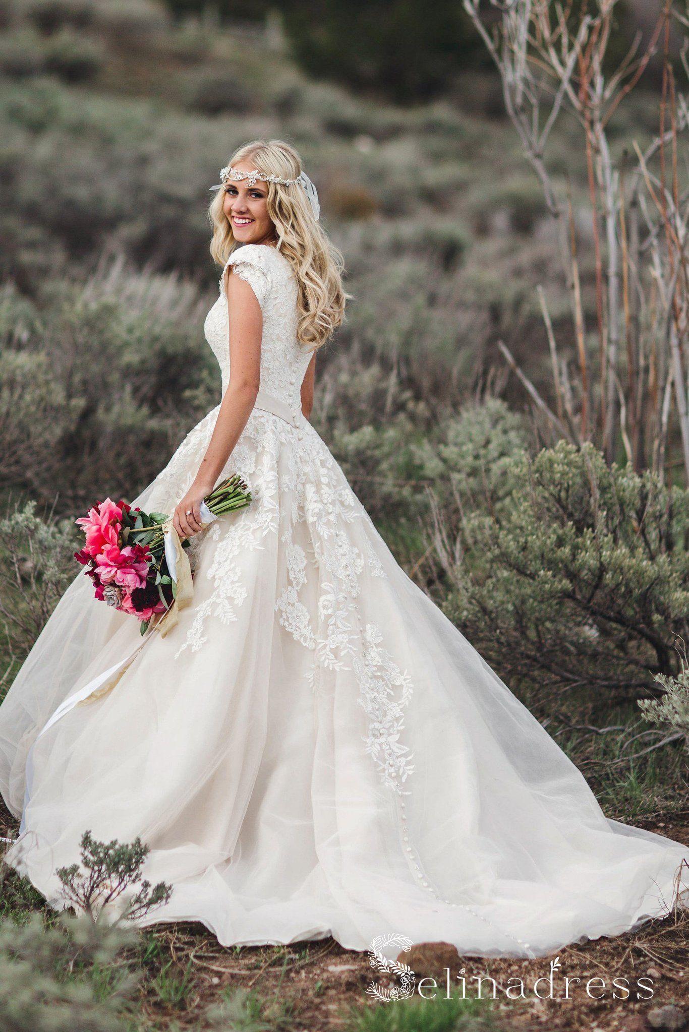Country Wedding Dress With Sleeves Weddings234 Modest Wedding Dresses Country Wedding Dresses Rustic Wedding Dresses [ 2047 x 1366 Pixel ]