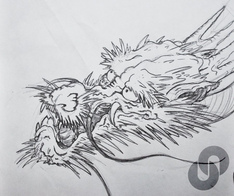 Sketch For A Japanese Sleeve: Dragon Drawing Practice ( Head ) By Stanley94 On
