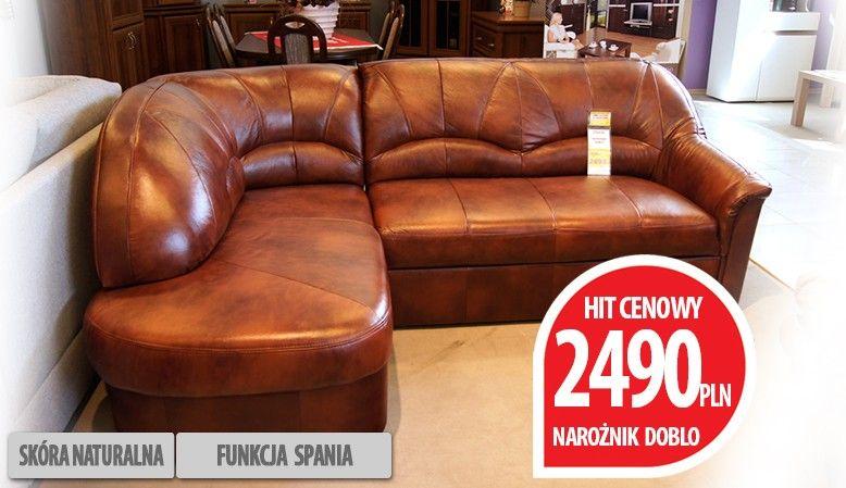 Naroznik Skorzany Z Funkcja Spania Doblo Furniture Home Decor
