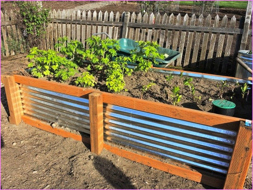 Charmant Corrugated Metal Raised Garden Beds Diy